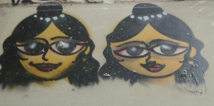 Some beautiful Indian girls above up high in Union Lane.