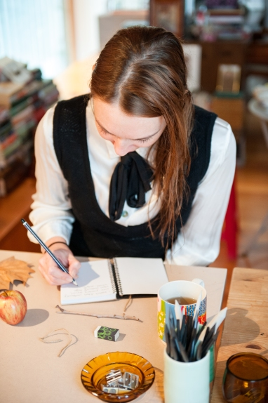 The beautiful Adele concentrating on her drawing skills. Photo by Samara Clifford.