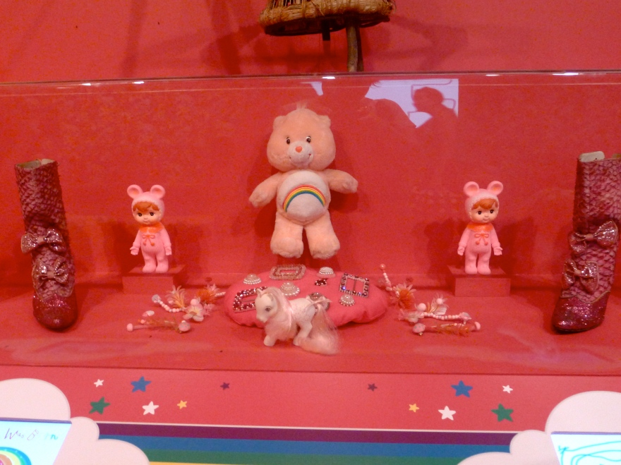 Umm that's my Carebear. How great are these displays filled with 80s trinkets?