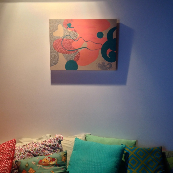 I put a painting of mine up in my studio.