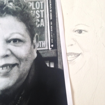 Here is a sneak peek of the artwork I worked on for the next issue of Bread Wine & Thou - yes that is my Mum.